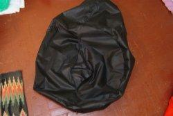 Чёрный чехол пуфика