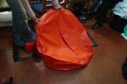Красный чехол кресла