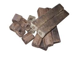 топливные брикеты, полученные на нашем оборудовании
