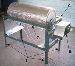 Вид собранной печи газовой обжарки сыпучих продуктов