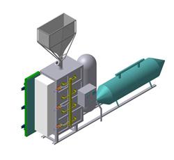 Автоматический, полуавтоматический комплекс по производству пенополистирольных блоков