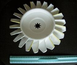 Модель пенопластовой крыльчакти