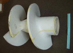 Модель пенопластового шнека