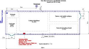 размещение линии по производству пенопласта, план здания