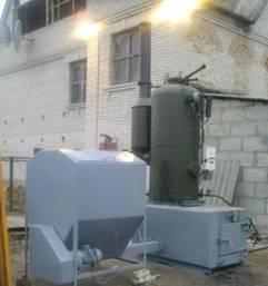 Паровой комплекс ПК 400 (паровой котёл с дожигателем), 400 кг пара в час, 350 кВт