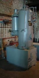 Паровой котёл РИ-1 на газогенераторе (дожигателе) с автоматикой 100 кг пар/час, 75 кВт