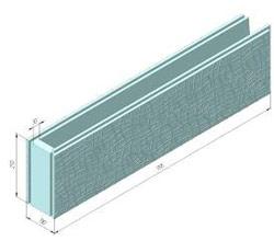 термоблок перегородочный угловой (универсальный) с декоративной стенкой