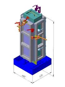 термоформа для производства несъемной опалубки на два блока