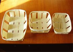 Корзинка: готовые изделия из лущеного шпона