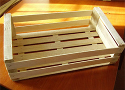 Ящик: готовые изделия из лущеного шпона