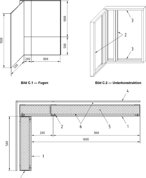 einbau und befestigung fur die prufung nach en 13823 sbi prufung. Black Bedroom Furniture Sets. Home Design Ideas