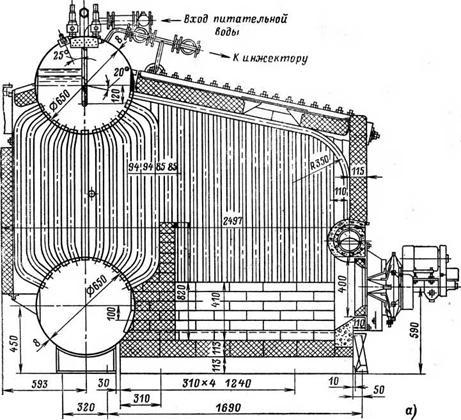 Вертикально-водотрубный котел