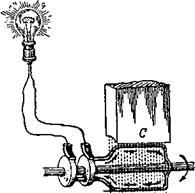 Части генератора - статоре.  Магнитное поле создаётся не постоянными стальными магнитами, а электромагнитами.