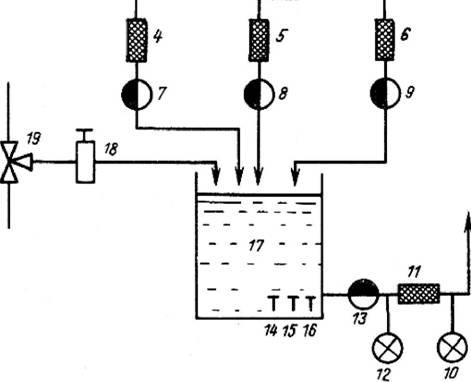 схема растворного узла: