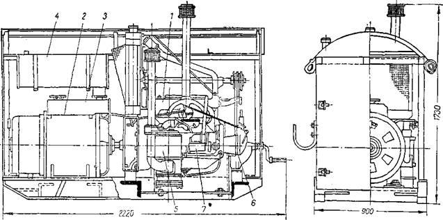Передвижной сварочный агрегат