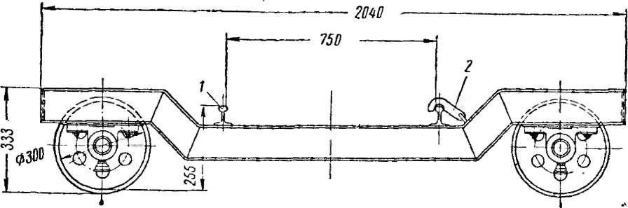 Передаточная тележка для сушильных вагонеток