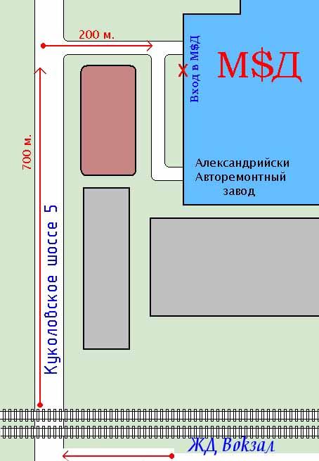 Карта проезда от ЖД Вокзала Александрии