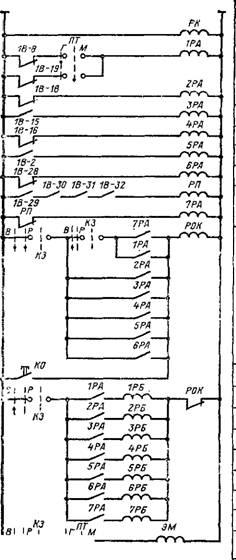 Схема автоматик безопасности котла