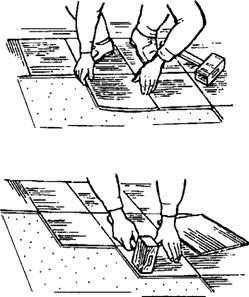 Укладка и припрессовка поливинилхлоридных плиток