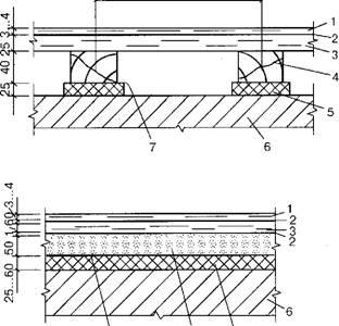 Полы из сверхтвердых древесноволокнистых плит