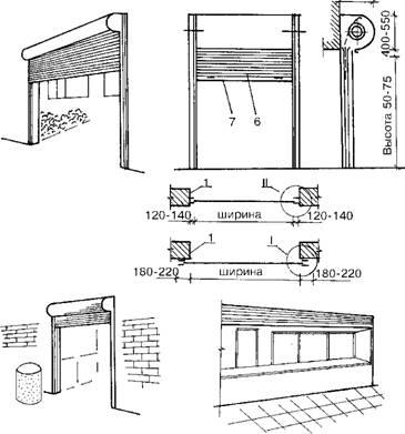 Подъемно-шторные двери