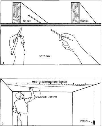Определение месторасположения балок