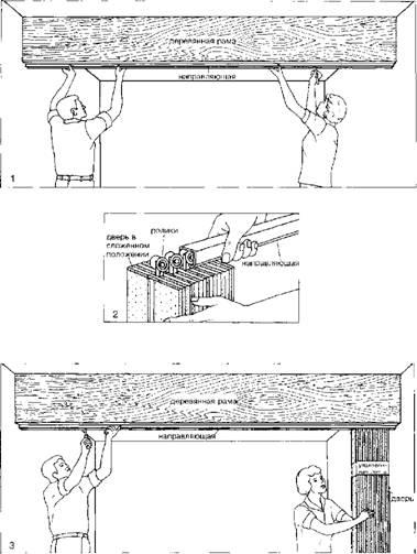 Установка шарнирно-складчатой двери