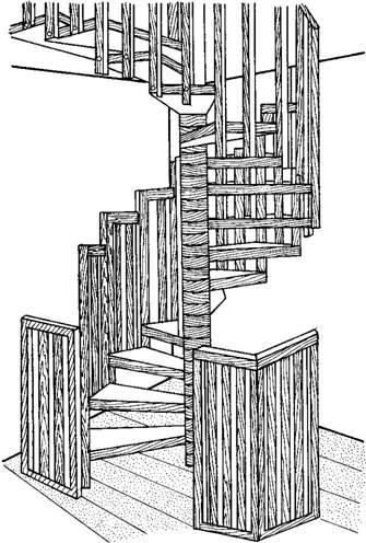 Винтовая лестница на мансарду