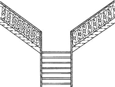 Двухмаршевая лестница с изломом