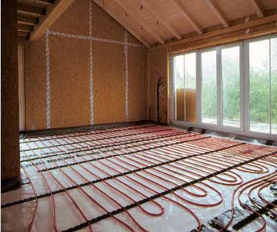 Система отопления на базе теплых водяных полов