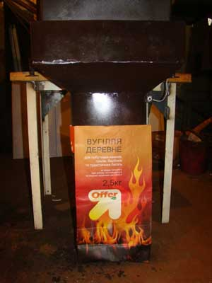 упаковка древесного угля