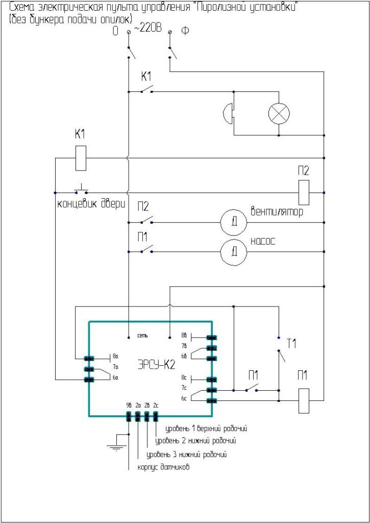 пульт управления паровым котлом подкачкой воды