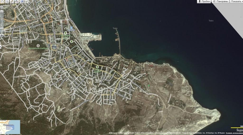 вид сверху участок в Крыму