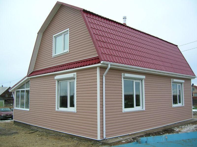 фасад профнастила дом