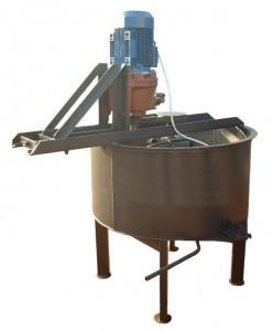 Шнековая-роторная бетономешалка