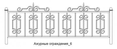 заборы из кованного железа