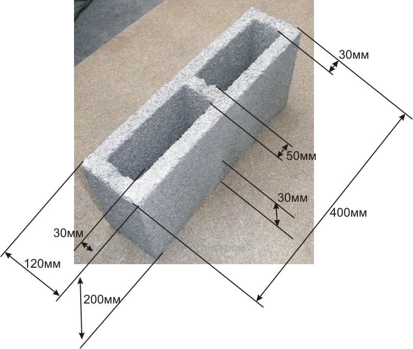 Французски камень - размеры и производство