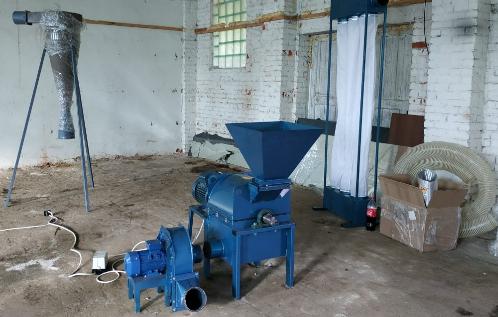 оборудование для переработки тырсы опилок в пыль для гранулирования