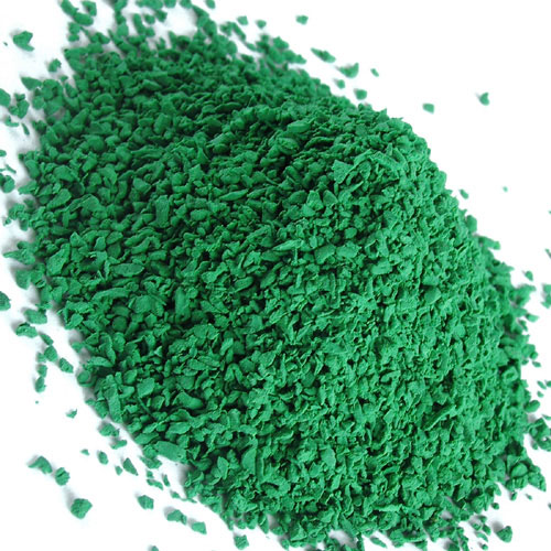 зеленая резиновая крошка